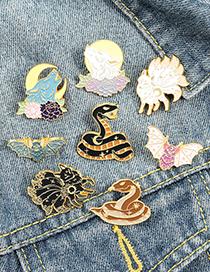 Fashion Brown Snake Alloy Animal Snake Brooch