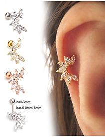 Fashion Silver Stainless Steel Screw Ear Studs
