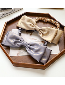 Fashion Pink Bow-knot Solid Color Hair Band