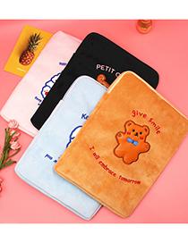 Fashion Black Wow Bear Cartoon Laptop Bag
