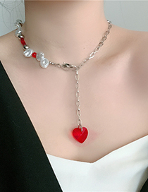 Fashion White Diamond-like Pearl Necklace