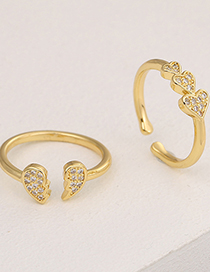 Fashion A Slightly Inlaid Love Open Ring