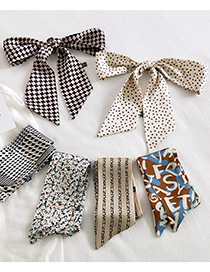 Fashion 17 Three-point Buttons Narrow And Long Ribbon Small Silk Scarf
