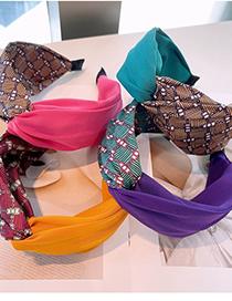 Fashion Purple Chain Cross Color Matching Headband