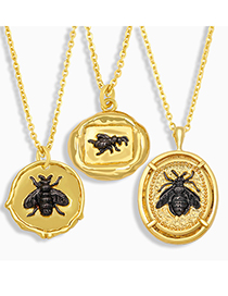 Fashion A Little Bee Pendant Necklace