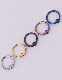 Fashion 5 Mixed Colors Vacuum Plated Stainless Steel Nose Nails