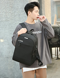 Fashion Gray Three-piece Usb Charging Backpack Computer Bag