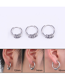 Fashion Bead Stainless Steel Ear Ring (single)