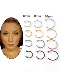 Fashion Steel Color Stainless Steel Nose Nail