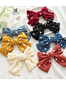 Fashion Small Orange Net Yarn Daisy Knotted Bow Hairpin