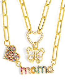 Fashion B Mama Letter Love Butterfly Necklace