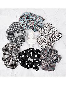 Fashion Polka Dot Black Large Leopard Houndstooth Polka Dot Large Intestine Hair Tie