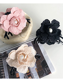 Fashion Pink Flower Large Hair Catch