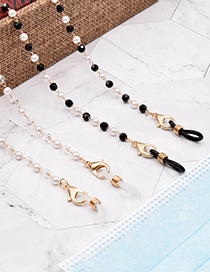 Fashion Black Pearl Crystal Millet Bead Glasses Chain