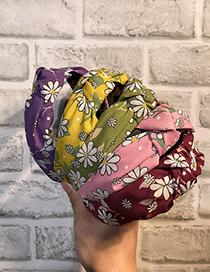 Fashion Pink Small Daisy Cloth Knotted Flower Headband