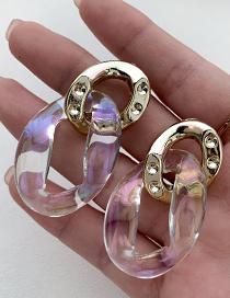 Fashion White Resin Chain Earrings