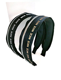Fashion White English Letters Spell Color Headband