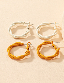 Fashion Milky Twisted Cross-knotted Earrings