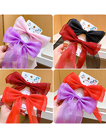 Fashion Red Children's Hairpin With Bow And Streamer