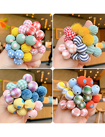 Fashion Yellow Wave Penalty Balls Pack Of 10 Children's Elastic Ball Hair Tie