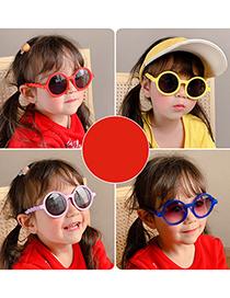 Fashion Light Purple Frame Round Children's Sunglasses