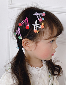 Fashion Acrylic Five-petal Flower [10 Trial Packs] Children's Flower And Fruit Hairpin