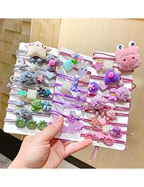 Fashion Purple Rabbit Children's Cartoon Bunny Dinosaur Star Hair Ring