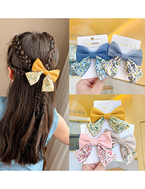 Fashion Blue Children's Bow Floral Hairpin