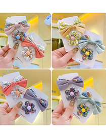 Fashion Color Children's Floral Hairpin With Bow