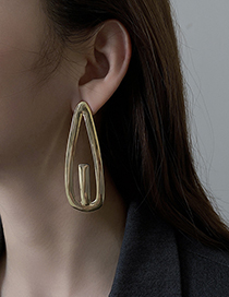 Fashion Gold Color Hairpin Earrings