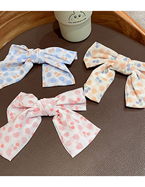 Fashion Blue Cherry Gauze Bow Hairpin