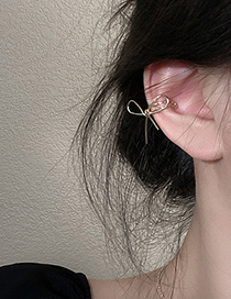 Fashion Gold Color Single Ear Bone Clip With Bow