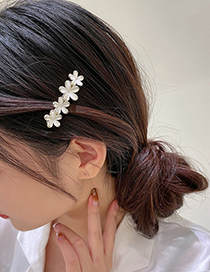 Fashion Gold Color Opal Flower Hairpin