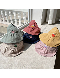 Fashion Navy Children's Double-sided Sun Hat With Frog Empty Top