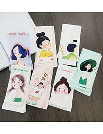 Fashion 7 Cool Girls Cartoon Character Ice Silk Sunscreen Sleeves