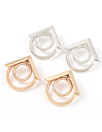 Fashion Silver Color Metal Round Alloy Earrings