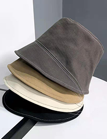 Fashion Beige Shade Solid Color Sunscreen Fisherman Hat