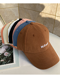 Fashion Beige Letter Embroidered Sun Visor Baseball Cap