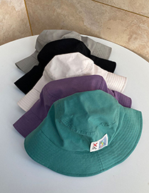 Fashion Beige Symbol Patch Visor Fisherman Hat