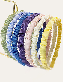 Fashion Yellow Pure Color Fine Pleated Headband