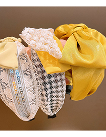Fashion Lace Bow Yellow Lace Big Bow Headband