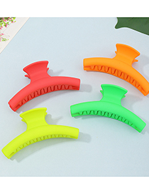 Fashion Orange Fluorescent Frosted Resin Color Gripper