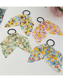 Fashion Pink Flowers Floral Cloth Streamer Floral Flower Head Flower Hair Rope