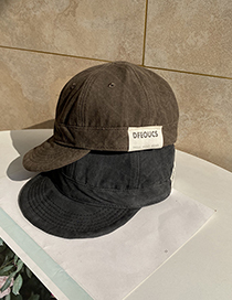 Fashion Brown Soft Brim Letter Label Baseball Cap