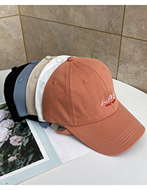 Fashion Beige Wag Embroidered Sun Visor Baseball Cap