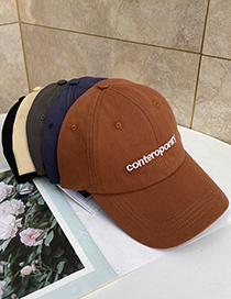 Fashion Beige Cotton Letter Embroidered Sun Visor Baseball Cap