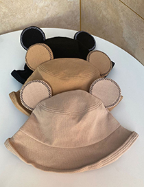 Fashion Beige Bear Ear Fisherman Hat