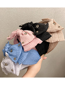 Fashion Coffee Color Mesh Double Bow Headband
