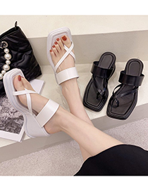 Fashion Black Strap-on Slippers