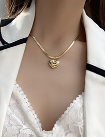 Fashion Gold Color Love Titanium Steel Necklace